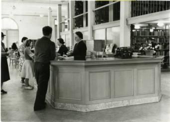 SJPL circulation desk, 1950s