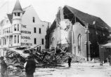 1906 earthquake damage to First Presbyterian Church.