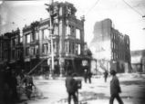 1906 Earthquake damaged buildings on Second Street.