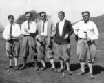 1925 Stanford University faculty members on the golf course.