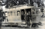 1900 Narrow gauge railway car in San Jose.