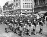 Military men in a parade