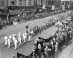 Boy scouts in a parade