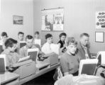 Students in typing class