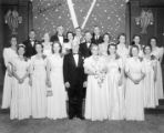 Group photograph of people in formal dress