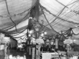 Cigar displays in large decorated tent