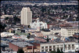 Downtown San Jose, elevated view, 1975
