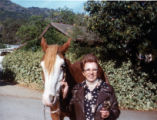 Marie Benetti with horse.