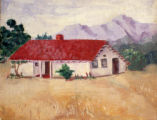 Jose Hernandez adobe painting.