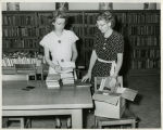1952, Old Post Office, Two library staff processing books