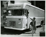 1958, Old Post Office building, San Jose Public Library Bookmobile