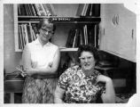 1963, Willow Glen Library Branch, Lynn Vermillion and Evelyn Patty