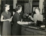 1943, Old Post Office building, Geraldine Nurney City Librarian