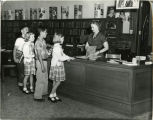 1951, Old Post Office building,  Children's room Market and San Fernando