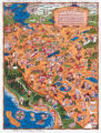 Guide 1940, Delightful Santa Clara County cartoon map.
