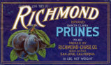 Fruit crate label 1920, Richmond Brand
