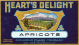 Fruit crate label 1920, Heart's Delight