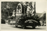 1928 Parade float, A. M. Mortensen Incorporated