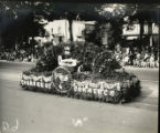 1928 Parade float, San Jose Chamber of Commerce