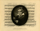 Ludwig van Beethoven (1770-1827): Facsimile of page of original manuscript of his last sonata for...