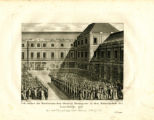 Fest, welches das Direktorium dem General Bounaparte in dem Nationalpallaste des Luxemburgs gab. :...