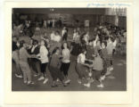 Junior high school girls dancing at a Y-Teen conference