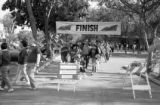 Participants at the 1986 y-Walk finish line