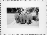 Group photo of San Jose State College 1947 graduates.