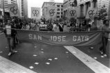 "Participants with ""San Jose Gays"" banner."
