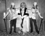 Billy DeFrank with two other male entertainers.