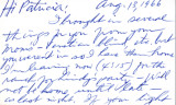 Letter from Carl Duncan to Patricia Whiting,  August 13, 1966