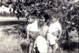 Patricia Whiting with nephews