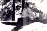 Patricia Whiting in the snow