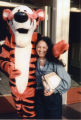 Patricia Whiting posing with Tigger