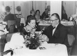 John and Elaine Steinbeck in the Dining Room of a Ship